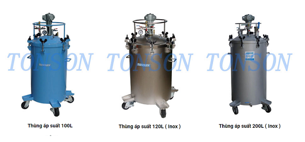 Thùng áp suất Tonson 100L, 120L và 200L